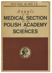 Annals of the Medical Section of the Polish Academy of Science obálka